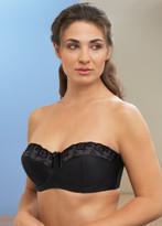 Glamorise Strapless Underwire & 5-Way Convertible Straps Bra Black