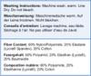Glamorise Isometric Brief Washing Instructions & Fiber Content