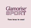 Glamorise Sport - Active Comfort Wrap Bra - Two bras in one…low impact sports and an all day comfort bra.