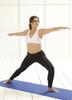 Glamorise Sport Active Comfort Wrap Yoga Low-Impact Sports Bra Cafe