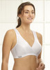 Glamorise Sport Active Comfort Wrap Yoga Low-Impact Bra White