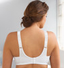Glamorise Classic Lace Full-Figure Soft Cup Support Bra Cafe - Back View