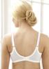 Glamorise Elegance Wonderwire Underwire Lace Side-Smoothing Bra Fuchsia - Back View