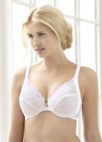 Glamorise Elegance & Wonderwire Lace Bra White - Cup Size B