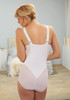 Glamorise Magic-Lift Body Briefer Shaper Firm Control & Support White - Back View