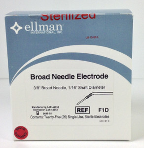 "F1D - 3/8"" Broad Needle Electrode - 25pcs, Sterile"