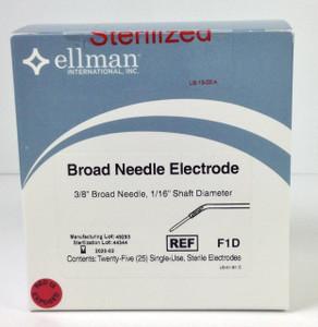 "F1D - 3/8"" Broad Needle Electrode - 25pcs, Sterile"
