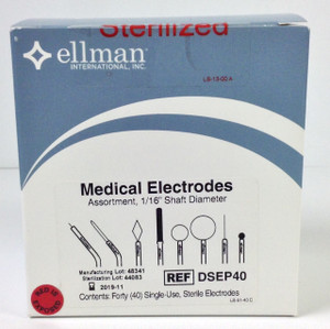 DSEP40 - Medical Electrodes, Assortment 40 Sterile 1/16 Set