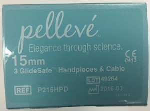 P215HPD - Pelleve Glide Safe Handpieces & Cable (FxdLif Reusable) 15mm (3pk)