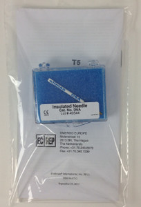 D6A - Insulated Needle Electrode Reusable, 1/2mm exposed tip Fine Insulated Coated Needle .004""