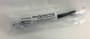Ace-Tip Non stick Bayonet Serrated Tip Forceps. Length 16.6cm. Diameter 1.0mm - ACBF-021
