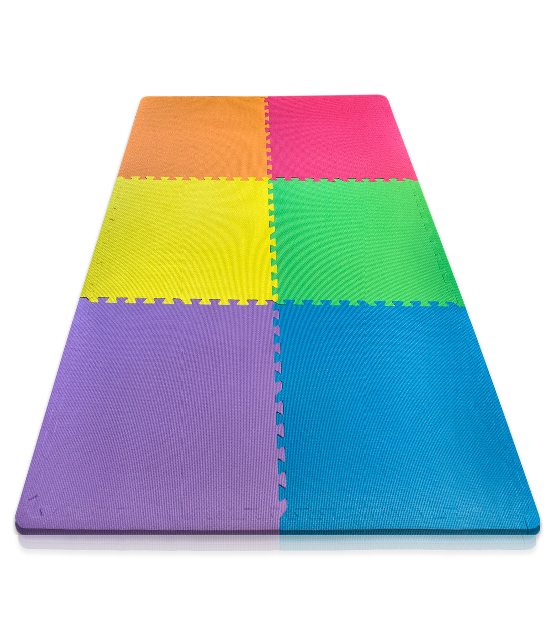 Sivan Health and Fitness Health and Fitness® Puzzle Exercise Mat Colorful  High Quality EVA Foam Interlocking Tiles