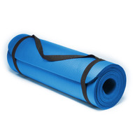 Sivan Health and Fitness 1/2-Inch Extra Thick 71-Inch Long NBR Comfort Foam Yoga Mat (Blue)