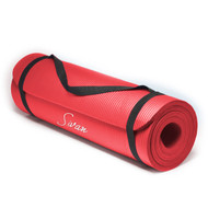 Sivan Health and Fitness 1/2-Inch Extra Thick 71-Inch Long NBR Comfort Foam Yoga Mat (Red)
