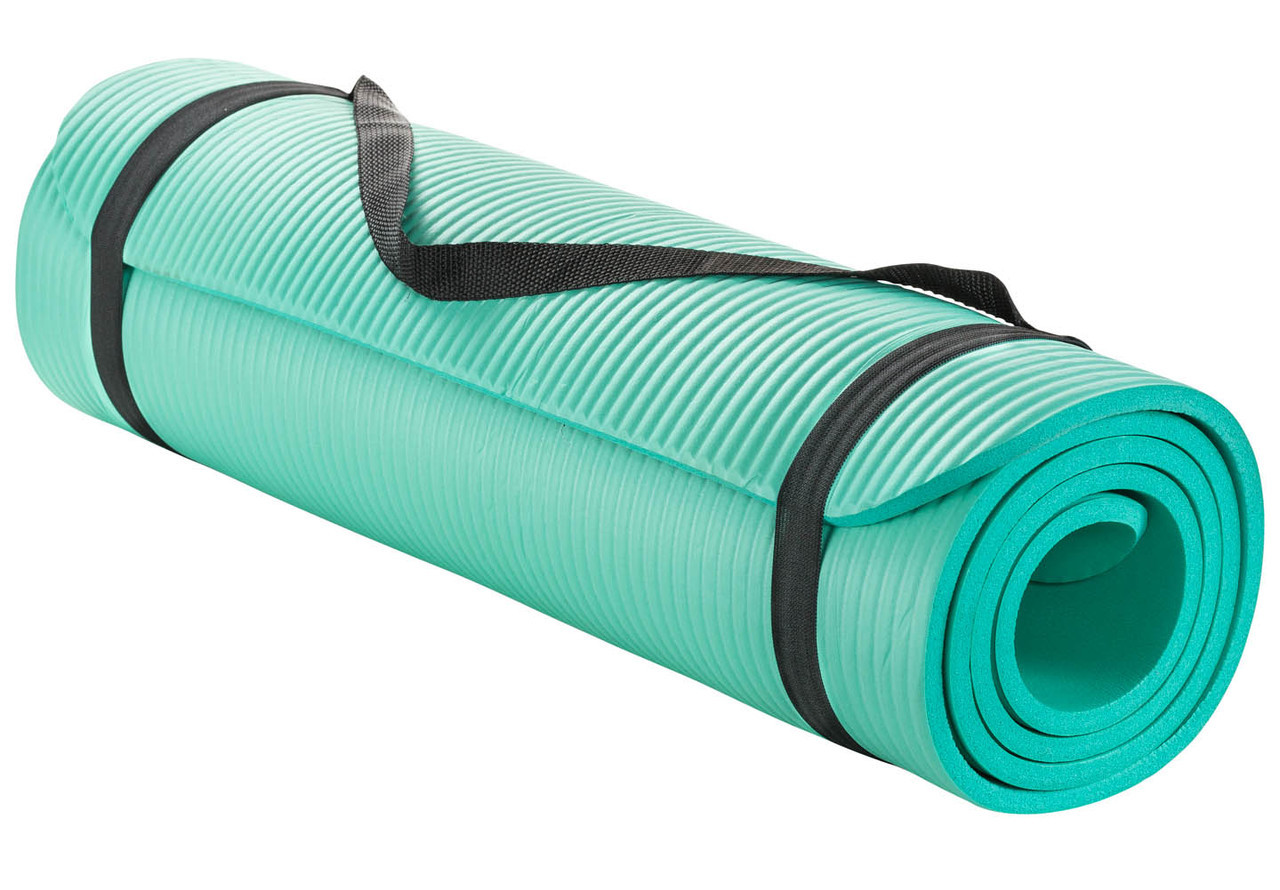 Sivan Health And Fitness 1 2 Inch Extra Thick 71 Inch Long Nbr Comfort Foam Yoga Mat Teal Sivanhealthandfitness Com