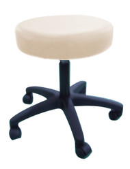 Sivan Health and Fitness Adjustable Rolling Stool For Massage Tables, Doctor's Clinics and Examination Tables (Beige)