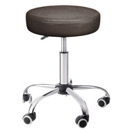 Sivan Health and Fitness Adjustable Rolling Stool For Massage Tables, Doctor's Clinics and Examination Tables (Chocolate)