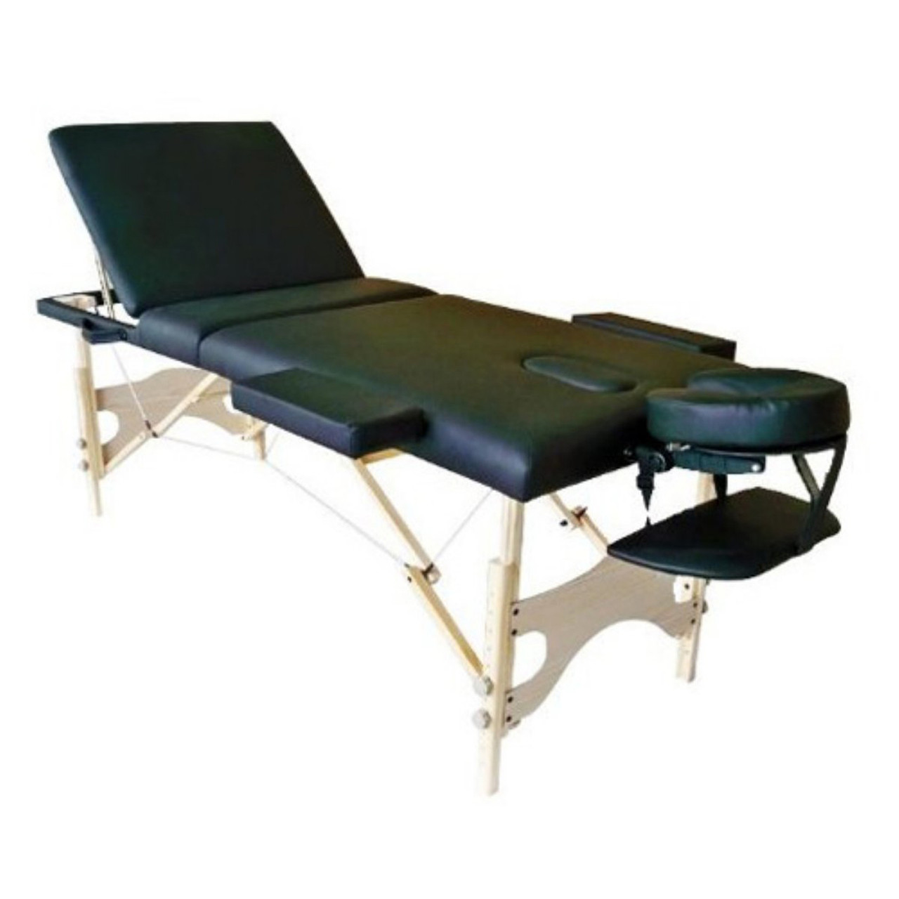 Sivan Health and Fitness HEALTH & FITNESS Three Fold Reiki Portable Massage  Table and Carrying Case, Black