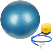 Sivan Health and Fitness Burst Resistant Yoga Exercise Fitness Pilates Stability Ball with Pump 52cm Blue