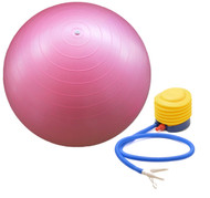 Sivan Health and Fitness Burst Resistant Yoga Exercise Fitness Pilates Stability Ball with Pump 65cm Pink
