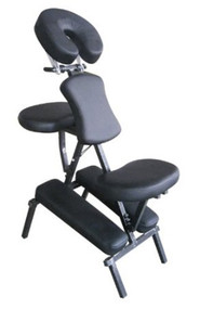 Sivan Health and Fitness Portable Massage Folding Chair Including Carrying Case (Black)