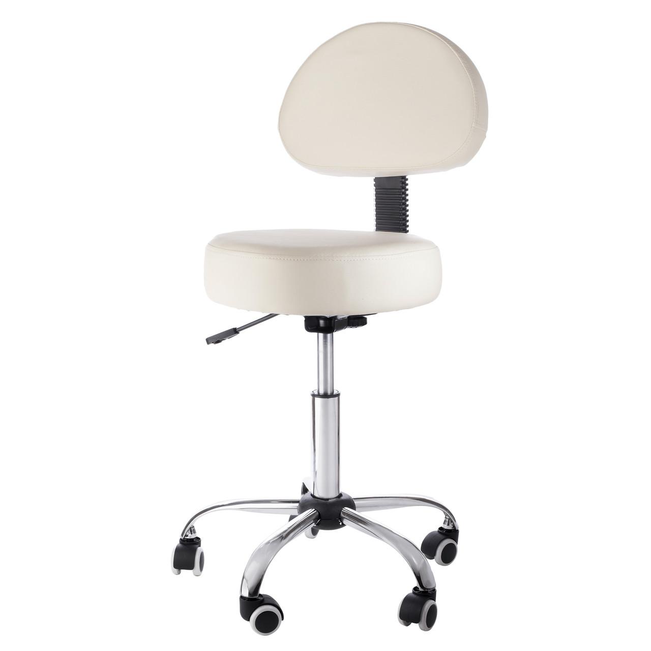 Superb Sivan Health And Fitness Pneumatic Rolling Adjustable Medical Massage Stool With Removable Backrest Beige Ibusinesslaw Wood Chair Design Ideas Ibusinesslaworg