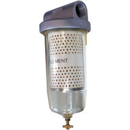 HA1s clear bowl fuel filter with 10 micron filter
