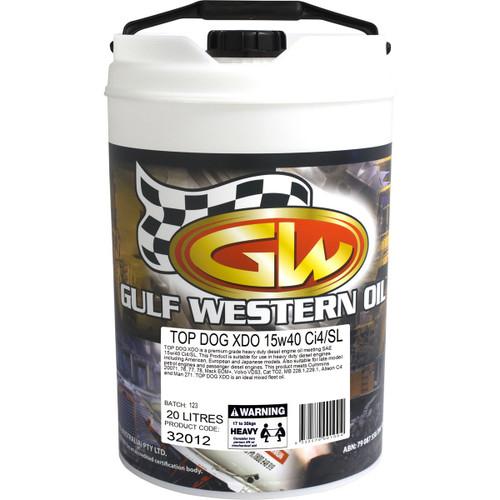 Gulf Western Top Dog XDO 15w40 Ci4 20L, 15w40 engine oil best price in Townsville