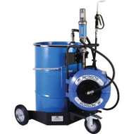 Macnaught Portable trolley mounted oil 3:1 dispensing system with Unmetered oil gun