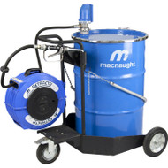 Macnaught Portable trolley mounted oil dispensing system with Unmetered oil gun