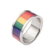Rainbow Smooth Flag Ring - Gay & Lesbian Pride - Rainbow Items