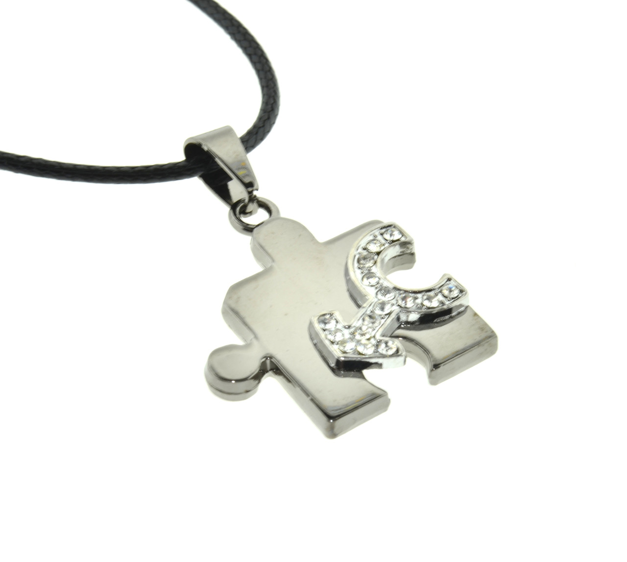 Pride Shack CZ Bling Female Symbol Lesbian Pride Puzzle Pendant LGBT Necklace