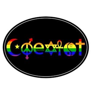Gay Pride Coexist Flag