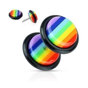 Lesbian   Rainbow   Jewelry   Earring   O-Ring   Pride   Fake   Plug   Body