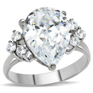 Big Rock (7 Stones) CZ Ring - Steel Engagement Ring / Promise / Wedding Ring for Women