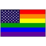 Gay Pride Flag - USA American Pride - U.S. Rainbow Flag - Polyester 3 x 5