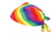 Rainbow Striped Head Bandana - LGBT Gay & Lesbian Pride Parade Apparel