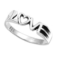 Love Ring -  Top Quality Silver Purity Commitment Ring for lovers