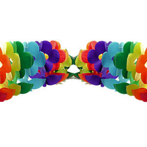 Image of 12 Foot Rainbow Gay Pride Flag (Flower) Party Garland Banner - LGBT Gay and Lesbian Pride Party Supplies