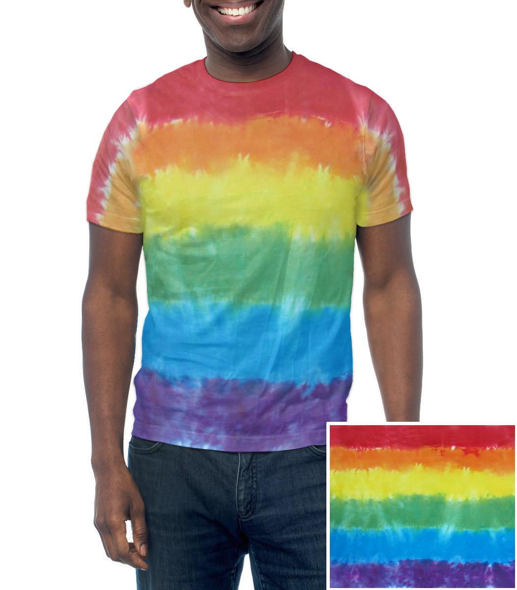 6bad18cfb5 Rainbow Flag Tie Dye T-Shirt - Handmade & Unique - LGBT Lesbian and ...