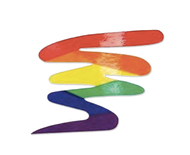 Rainbow Squiggle - LGBT Pride Sticker 3x3 inch - LGBT Gay and Lesbian Pride Decal