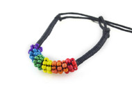 Short Beaded Rainbow Friendship Bracelet - LGBT Gay and Lesbian Pride Jewelry