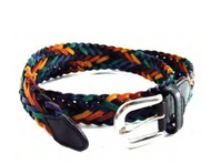 Rainbow Braided Leather Belt (with Adjustable Buckle ) - LGBT Gay & Lesbian Pride Clothing Accessories