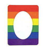 Gay Flag Magnetic Photo Frame - LGBT Lesbian and Gay Pride Decal Merchandise. Rainbow Items from Reinhardt Depot