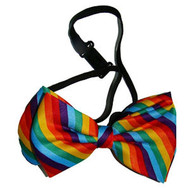 Gay Pride Rainbow Bow Tie - LGBT Gay and Lesbian Pride Apparel