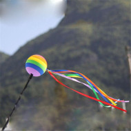 Gay Pride Rainbow Ball car Antenna Topper / Rear View Mirror Dangler - GLBT - Gay and Lesbian Car and Vehicle Accessories