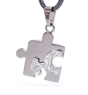 FREE Pendant with $45 or more. Coupon Code: BLINGMALE - (1) One Male CZ Bling Puzzle Steel & Mars Symbol Men's Gay Pride Pendant - Gay Pride Necklace