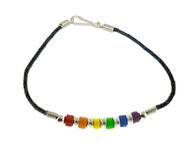 Gay pride Rainbow Plain Bead Wristlet Bracelet  - Gay & Lesbian LGBT Pride