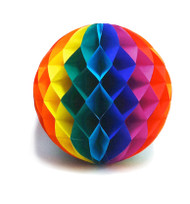 12 Inch Rainbow Gay Pride Flag Honey Comb Ball Party Banner - LGBT Gay and Lesbian Pride Party Supplies