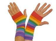 Rainbow Gay Pride Arm Warmers (Pair) - LGBT Gay and Lesbian Pride Apparel and Clothing